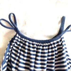 GAP Dresses - Baby Gap Navy Stripe Swing Dress Cotton Knit 5T